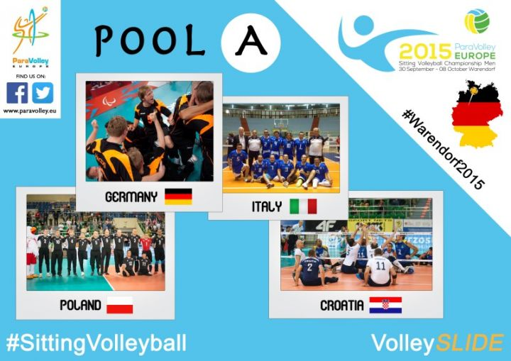 Teams der Sitzvolleyball-EM Pool A