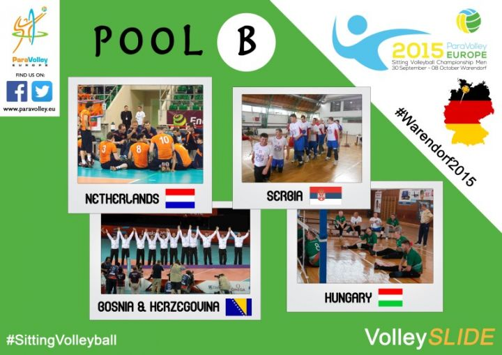 Teams der Sitzvolleyball-EM Pool B