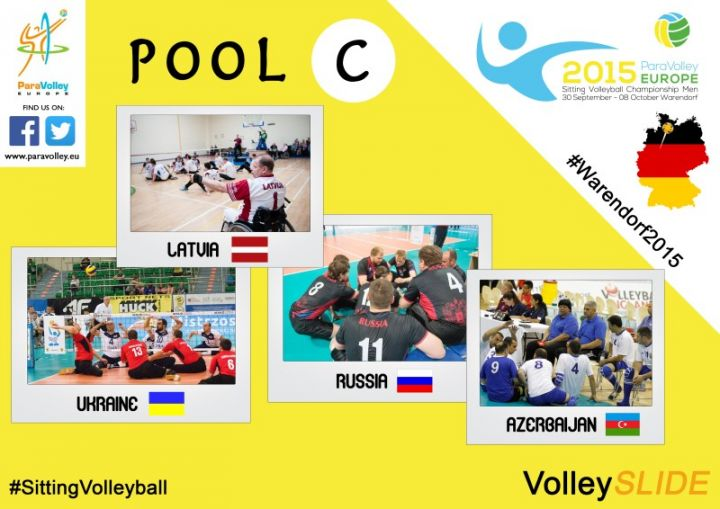 Teams der Sitzvolleyball-EM Pool C