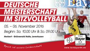 Banner Sitzvolleyball DM in Leverkusen