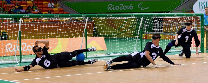 Starke Defensivleistung der Goalballer 2016 in Rio